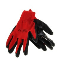 Перчатки нейлоновые красно-черные