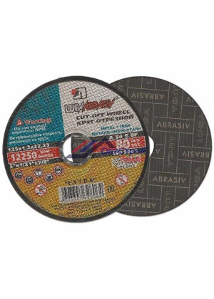 Диск отрезной по металлу LUGAABRASIV 125 х 1,2 х 22