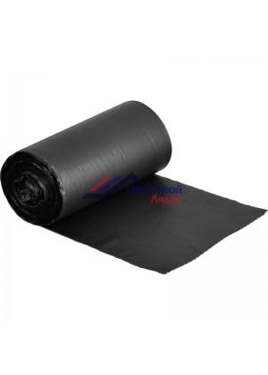 Мешки для мусора на 60 л черные (ПНД, 50 мкм, в рулоне 50 шт, 60х70 см)