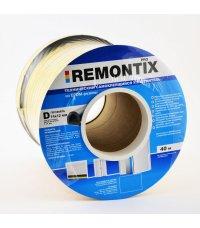 Уплотнитель гаражный Remontix D40, 14x12 мм белый
