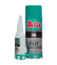 Akfix 705 / Акфикс 705 клей для экспресс склеивания (50 гр клей + 200 мл активатор)