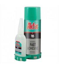 Akfix 705 / Акфикс 705 клей для экспресс склеивания (125 гр клей + 400 мл активатор)