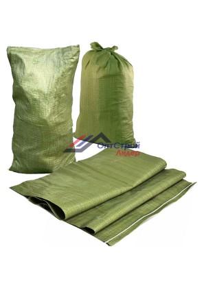 Мешки для мусора строительного зеленые 50 x 90см