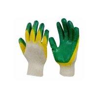 Перчатки хб с двойным латексным обливом 13 КЛАСС