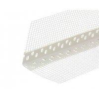 Уголок перфорированный ПВХ с сеткой 100х100 мм белый 2,5 м
