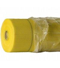 Сетка фасадная штукатурная ячейка 5х5мм 145 г/м2  желтая