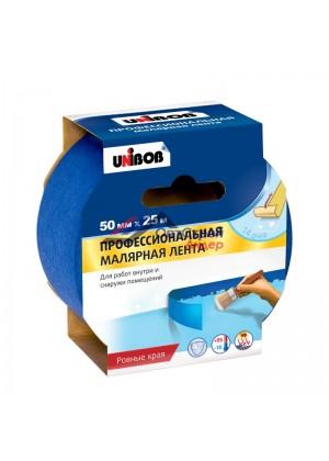 Малярная лента для наружных работ Unibob 50мм х 25м