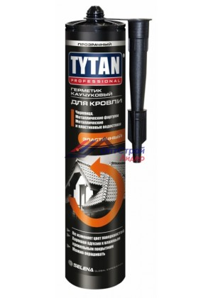 Титан / Тytan professional герметик каучуковый для кровли коричневый 310 мл
