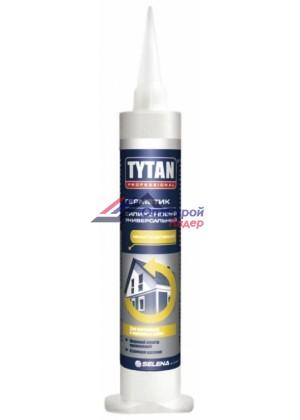 герметик силиконовый TYTAN шприц 80мл санитарный белый