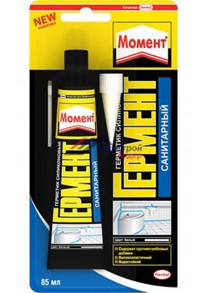 Герметик силиконовый санитарный прозрачный 85мл Henkel
